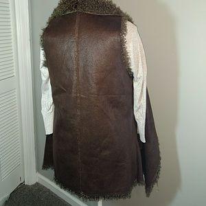 TCEC faux fur & suede Vest